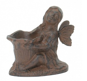 Cast Iron Angel Candle Holder