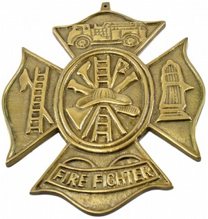 Aluminum Firefighter Plaque
