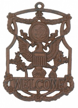 Welcome Iron Sign