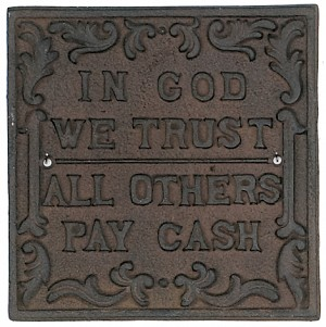 In GOD We Trust Iron Sign