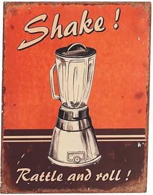 Shake Rattle And Roll Tin Sign
