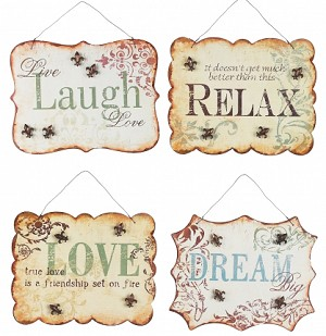 Inspirational Tin Signs Set Of Four