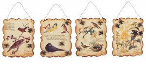 Birds With Poem Tin Signs Set Of Four