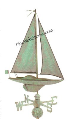 Small Sailboat Antique Weather Vane