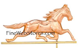 Race Horse Weather Vane