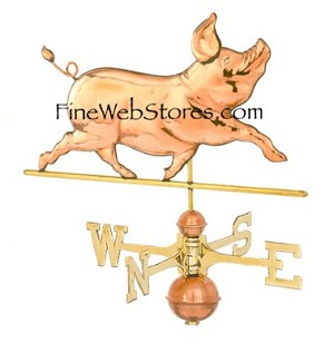 Whimsical Pig Weather Vane