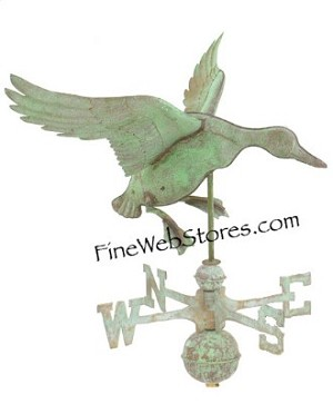 Landing Duck Antique Weather Vane