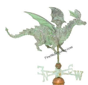 Dragon Antique Three Dimensional Weather Vane