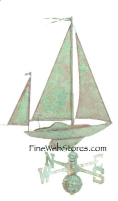 Sailboat Antique Weather Vane