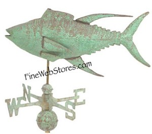 Yellow Fin Tuna Antique Weather Vane