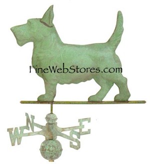 Scottie Dog Antique Weather Vane