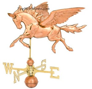 Pegasus Three Dimensional Polished Weather Vane