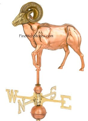 Ram Three Dimensional Polished Weather Vane
