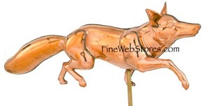 Fox Three Dimensional Polished Weather Vane