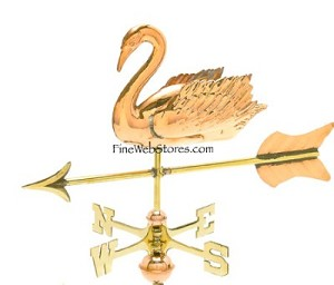 Swan Cottage Size Three Dimensional Weather Vane