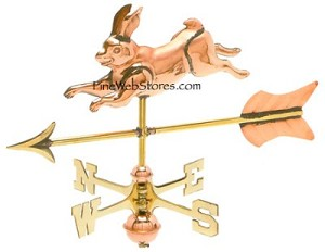 Rabbit Cottage Size Three Dimensional Weather Vane