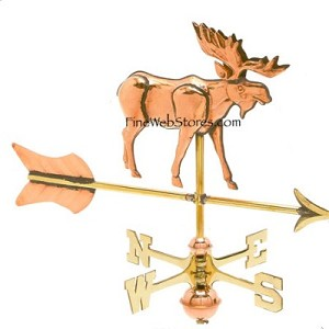 Moose Cottage Size Three Dimensional Weather Vane