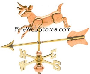Jumping Deer Cottage Size Three Dimensional Weather Vane