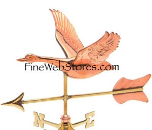 Goose Cottage Size Three Dimensional Weather Vane