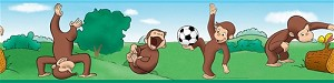 Curious George™ the Monkey Peel and Stick Border