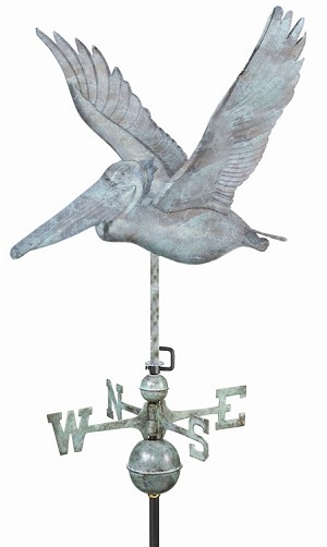 Pelican Weathervane Patina Finish