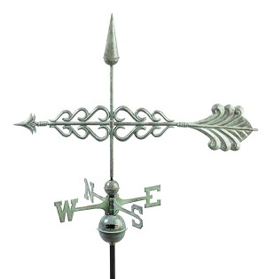 Smithsonian Arrow Weathervane Patina Finish