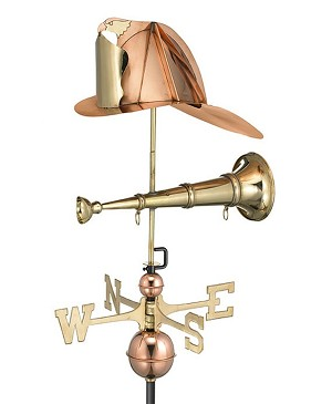 Fireman's Hat and Trumpet Weathervane