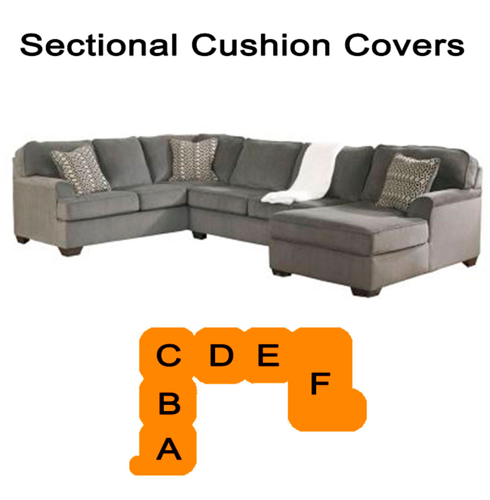 Home Replacement Cushions Sofa Ashley Loric Smoke Sectional Cushion And Cover 12700
