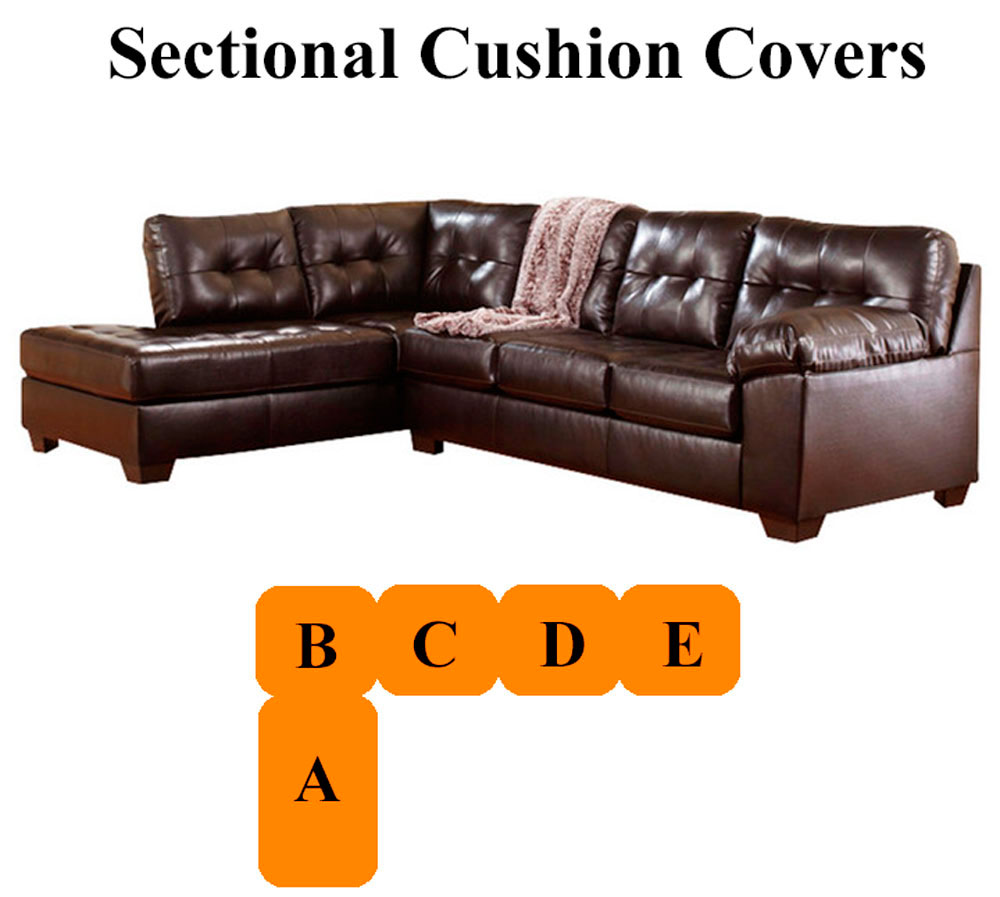 Fantastic Ashley Alliston Chocolate Sectional Replacement Cushion Caraccident5 Cool Chair Designs And Ideas Caraccident5Info