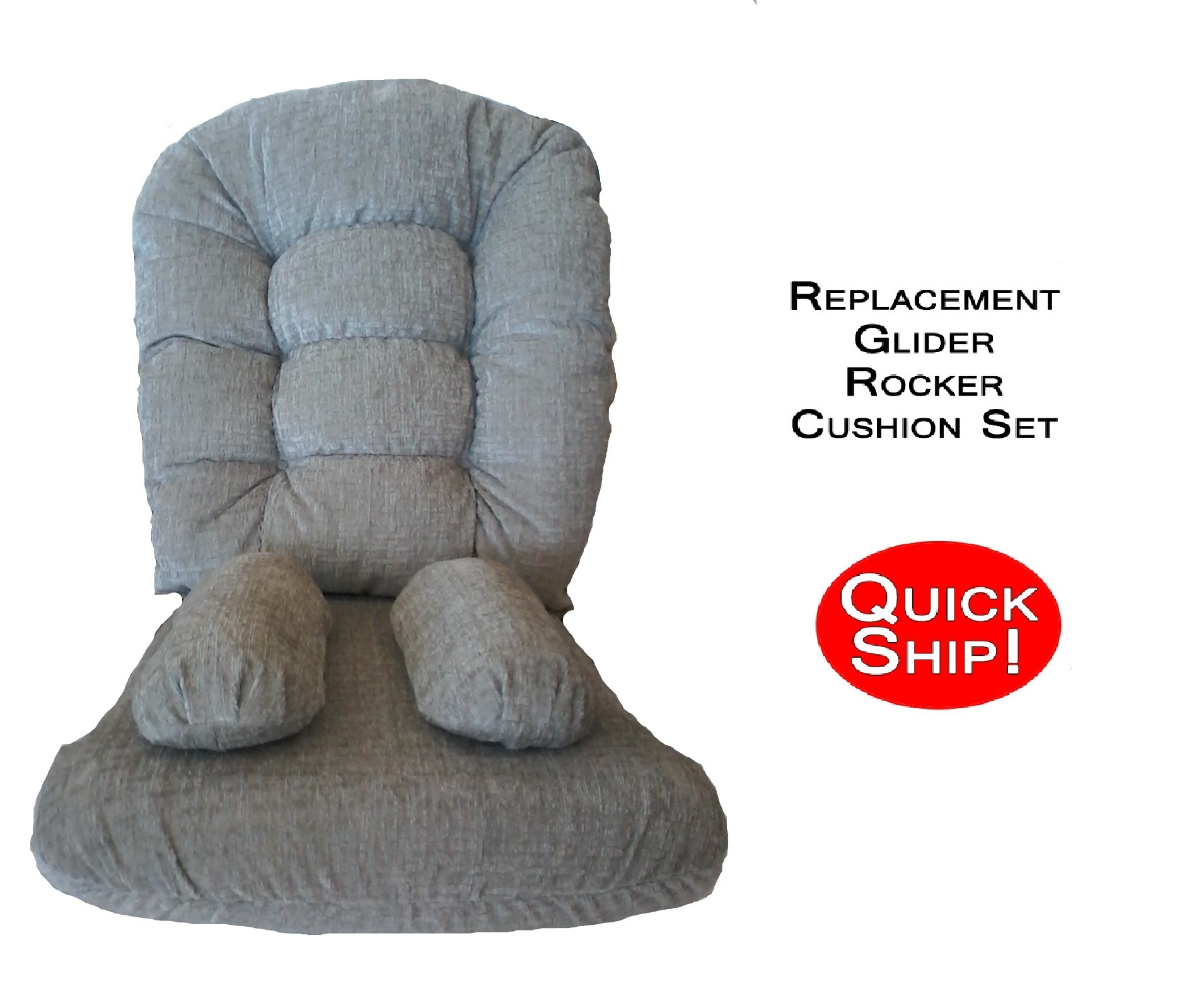 Quick Ship Glider Rocker Cushions For Bedazzle Chair Stone