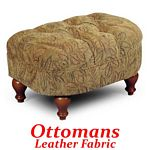Ottoman in Leather