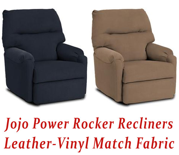 Awesome Jojo Power Rocker Recliner In Leather Vinyl Match Alphanode Cool Chair Designs And Ideas Alphanodeonline