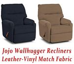 Jojo Wallhugger Recliner in Leather-Vinyl Match