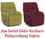 Jojo Swivel Glider Recliner in Polyurethane