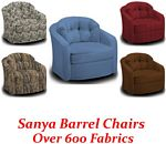 Sanya Swivel Glider Barrel Chair