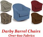 Darby Swivel Glider Barrel Chair
