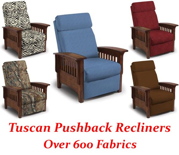 Tuscan Three Way Mission Pushback Recliner