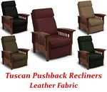 Tuscan Three-Way Mission Pushback Recliner in Leather