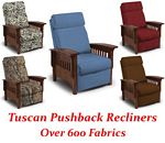 Tuscan Three-Way Mission Pushback Recliner