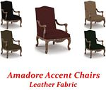 Amadore Accent Chair In Leather