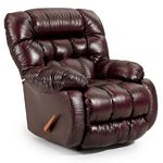 Plusher Swivel Glider Recliner in Leather-Vinyl Match