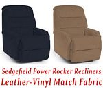 Sedgefield Power Rocker Recliner in Leather-Vinyl Match