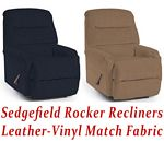 Sedgefield Rocker Recliner in Leather-Vinyl Match