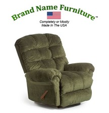 Recliner Sleeper that Reclines and Rocks - Leather Vinyl 47116L Coffee