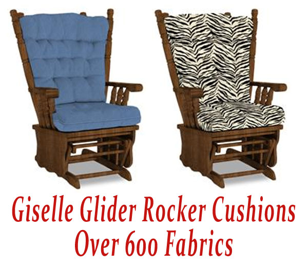 glider rocker cushions for giselle chair. Black Bedroom Furniture Sets. Home Design Ideas