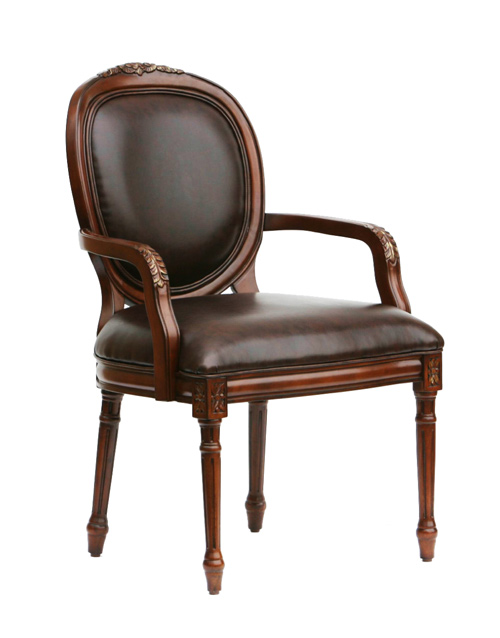 Bradford Bonded Leather With Traditional Oval Back Accent