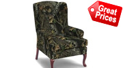 Camo Queen Anne Chairs