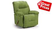 Green Leather Recliners Bonded