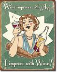 Schonberg - Wine Improved Tin Sign