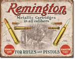 REM - For Rifles & Pistols Tin Sign
